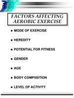 factors affecting aerobic exercise
