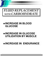 fluid replacement with carbohydrate
