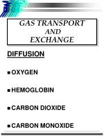 gas transport and exchange