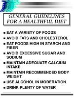 general guidelines for a healthful diet