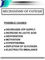mechanisms of fatigue