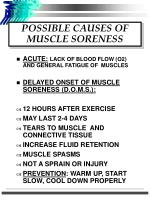 possible causes of muscle soreness