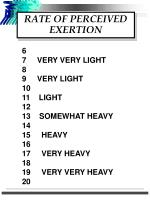rate of perceived exertion