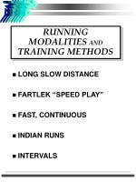running modalities and training methods