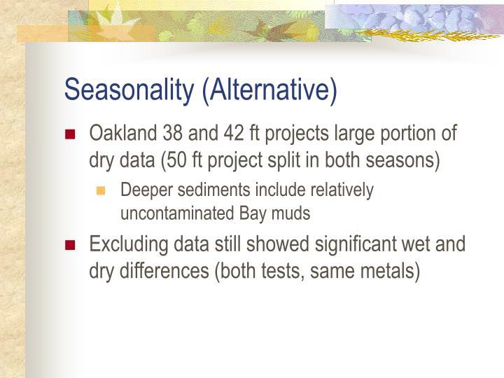 Seasonality (Alternative)