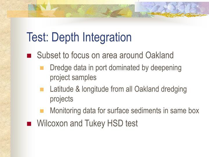 Test: Depth Integration