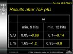 results after tof pid