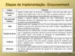 etapas de implementa o empowerment
