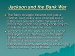 jackson and the bank war11