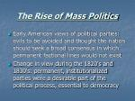 the rise of mass politics11