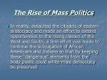 the rise of mass politics15