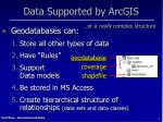 data supported by arcgis2