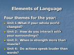 elements of language