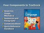 four components to textbook