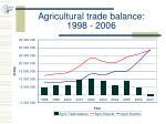 agricultural trade balance 1998 2006