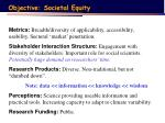 objective societal equity