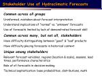 stakeholder use of hydroclimatic forecasts1