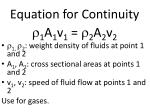 equation for continuity