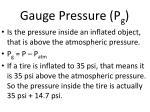 gauge pressure p g
