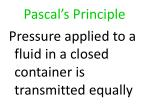 pascal s principle
