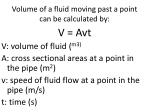 volume of a fluid moving past a point can be calculated by