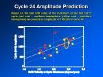 cycle 24 amplitude prediction