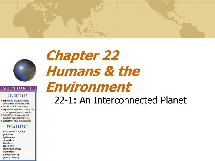 chapter 22 humans the environment n.