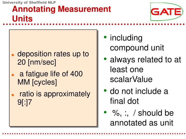 Annotating Measurement Units