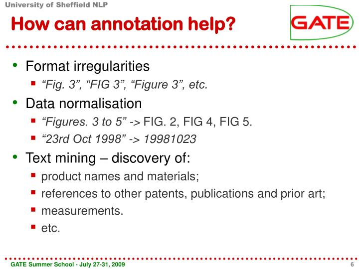 How can annotation help?