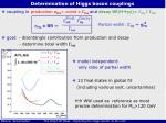 determination of higgs boson couplings