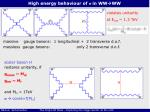 high energy behaviour of s in ww ww