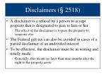 disclaimers 2518