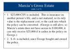 marcia s gross estate slide 1 of 5