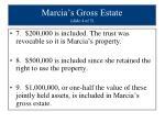 marcia s gross estate slide 4 of 5