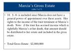 marcia s gross estate slide 5 of 5