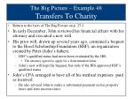 the big picture example 48 transfers to charity