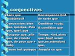 conjonctives