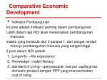 comparative economic development