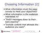 choosing information 2
