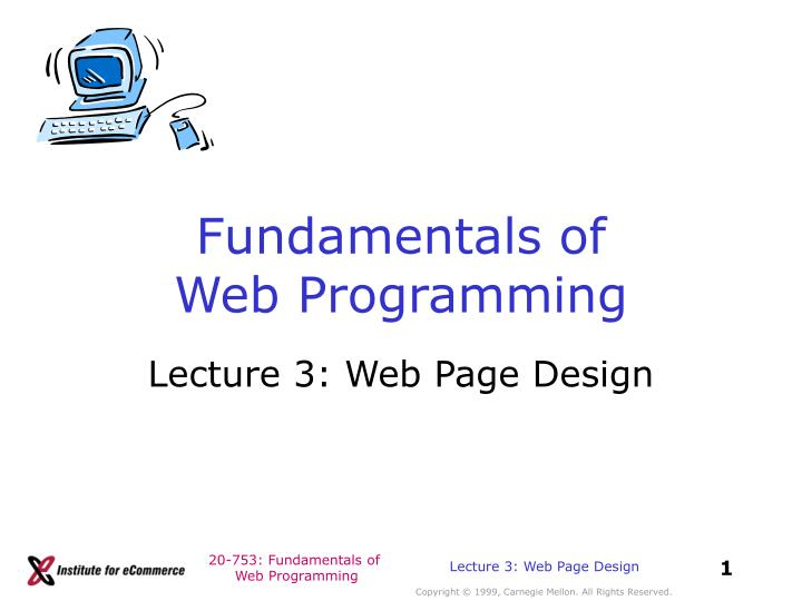 introduction of web programming This book is a full stack introduction to web programming: html5, css3, javascript, php, and mysql everything you need to get started as a stack developer - free book at freecomputerbookscom - download here.