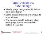 page design vs site design