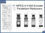 mpeg 4 h 263 encoder parallelism redicovery