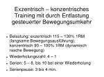 exzentrisch konzentrisches training mit durch entlastung gesteuerter bewegungsumkehr