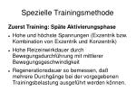 spezielle trainingsmethode