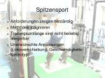 spitzensport