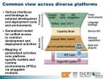 common view across diverse platforms