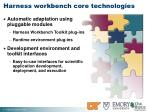 harness workbench core technologies