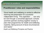 practitioners roles and responsibilities