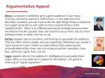 argumentative appeal