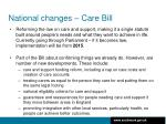 national changes care bill